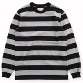 WEST RIDE / HEAVY BORDER LONG TEE (BLK/GRY)