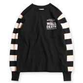 <img class='new_mark_img1' src='https://img.shop-pro.jp/img/new/icons50.gif' style='border:none;display:inline;margin:0px;padding:0px;width:auto;' />WEST RIDE / HEAVY BORDER SLEEVE LONG TEE (BLK/CRM)