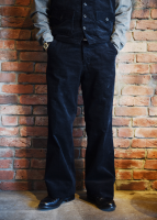 TROPHY CLOTHING - CORD VITO TROUSERS (BLACK)