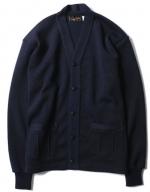 TROPHY CLOTHING - V BUTTON KNIT CARDIGAN (NAVY)