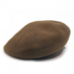THE H.W. DOG & CO. - LEATHER BERET 62 (KHAKI)