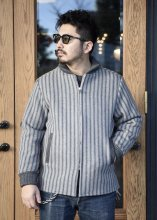 TROPHY CLOTHING - PHARAOH WOOL COAT (GRAY STRIPE)