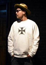 HWZN x CANVAS / IRONCROSS RAGLAN CREW SWEAT SHIRT 11th Limited