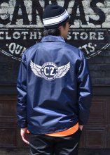 <img class='new_mark_img1' src='https://img.shop-pro.jp/img/new/icons1.gif' style='border:none;display:inline;margin:0px;padding:0px;width:auto;' />Cycle Zombies x COWDEN OFFICER COACHES JACKET (NAVY)