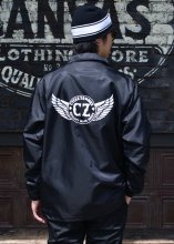 <img class='new_mark_img1' src='https://img.shop-pro.jp/img/new/icons1.gif' style='border:none;display:inline;margin:0px;padding:0px;width:auto;' />Cycle Zombies x COWDEN OFFICER COACHES JACKET (BLACK)