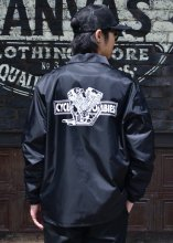 <img class='new_mark_img1' src='https://img.shop-pro.jp/img/new/icons50.gif' style='border:none;display:inline;margin:0px;padding:0px;width:auto;' />Cycle Zombies x COWDEN BIG TWIN COACHES JACKET (BLACK)