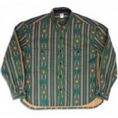 NITEKLUB&CO. / N Printed Flannel Shirt (Green)