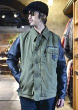 <img class='new_mark_img1' src='https://img.shop-pro.jp/img/new/icons1.gif' style='border:none;display:inline;margin:0px;padding:0px;width:auto;' />IrregulaR by Zip Stevenson / Vintage A2 jackets w/ leather sleeves Type D