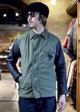 <img class='new_mark_img1' src='https://img.shop-pro.jp/img/new/icons1.gif' style='border:none;display:inline;margin:0px;padding:0px;width:auto;' />IrregulaR by Zip Stevenson / Vintage A2 jackets w/ leather sleeves Type C