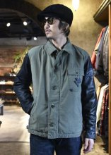 <img class='new_mark_img1' src='https://img.shop-pro.jp/img/new/icons1.gif' style='border:none;display:inline;margin:0px;padding:0px;width:auto;' />IrregulaR by Zip Stevenson / Vintage A2 jackets w/ leather sleeves Type B