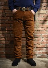 <img class='new_mark_img1' src='https://img.shop-pro.jp/img/new/icons25.gif' style='border:none;display:inline;margin:0px;padding:0px;width:auto;' />TROPHY CLOTHING - ROUGH OUT W KNEE PANTS (BROWN)