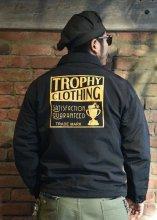 TROPHY CLOTHING - BOX LOGO WARMUP JACKET (BLACK)