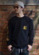 <img class='new_mark_img1' src='https://img.shop-pro.jp/img/new/icons50.gif' style='border:none;display:inline;margin:0px;padding:0px;width:auto;' />4Q CONDITIONING / YIN YANG LONG SLEEVE POCKET TEE (BLACK)