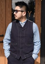 <img class='new_mark_img1' src='https://img.shop-pro.jp/img/new/icons1.gif' style='border:none;display:inline;margin:0px;padding:0px;width:auto;' />TROPHY CLOTHING - MODERN TIMES WAISTCOAT (STRIPE)