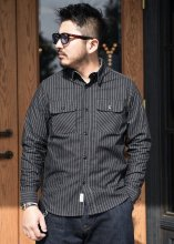 <img class='new_mark_img1' src='https://img.shop-pro.jp/img/new/icons1.gif' style='border:none;display:inline;margin:0px;padding:0px;width:auto;' />TROPHY CLOTHING - DELUXE WABASH SHIRT (BLACK)