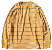 TROPHY CLOTHING - MULTI BORDER POCKET L/S TEE (YELLOW)