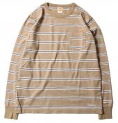 <img class='new_mark_img1' src='https://img.shop-pro.jp/img/new/icons1.gif' style='border:none;display:inline;margin:0px;padding:0px;width:auto;' />TROPHY CLOTHING - MULTI BORDER POCKET L/S TEE (OLIVE)