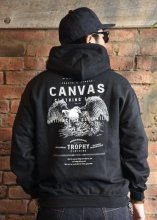 <img class='new_mark_img1' src='https://img.shop-pro.jp/img/new/icons1.gif' style='border:none;display:inline;margin:0px;padding:0px;width:auto;' />TROPHY CLOTHING x CANVAS - Screaming Eagle Pullover Hooded (BLACK)