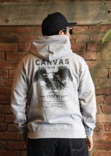 <img class='new_mark_img1' src='https://img.shop-pro.jp/img/new/icons1.gif' style='border:none;display:inline;margin:0px;padding:0px;width:auto;' />TROPHY CLOTHING x CANVAS - Screaming Eagle Pullover Hooded (GRAY)
