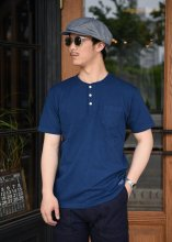 <img class='new_mark_img1' src='https://img.shop-pro.jp/img/new/icons1.gif' style='border:none;display:inline;margin:0px;padding:0px;width:auto;' />TROPHY CLOTHING - OD HENLEY TEE (INDIGO)