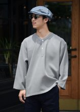 """<img class='new_mark_img1' src='https://img.shop-pro.jp/img/new/icons50.gif' style='border:none;display:inline;margin:0px;padding:0px;width:auto;' />TROPHY CLOTHING - """"MONOCHROME"""" SLEEPING SHIRT (GRAY)"""