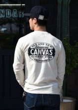 <img class='new_mark_img1' src='https://img.shop-pro.jp/img/new/icons1.gif' style='border:none;display:inline;margin:0px;padding:0px;width:auto;' />CANVAS - STANDARD LOGO L/S TEE (NATURAL)