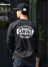 <img class='new_mark_img1' src='https://img.shop-pro.jp/img/new/icons1.gif' style='border:none;display:inline;margin:0px;padding:0px;width:auto;' />CANVAS - STANDARD LOGO L/S TEE (BLACK)