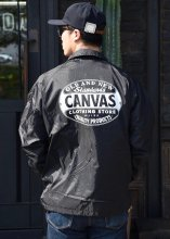 <img class='new_mark_img1' src='https://img.shop-pro.jp/img/new/icons55.gif' style='border:none;display:inline;margin:0px;padding:0px;width:auto;' />CANVAS - STANDARD LOGO COACH JACKET(Cardinal Body)(BLACK)