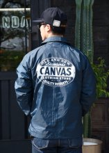 <img class='new_mark_img1' src='https://img.shop-pro.jp/img/new/icons55.gif' style='border:none;display:inline;margin:0px;padding:0px;width:auto;' />CANVAS - STANDARD LOGO COACH JACKET(Cardinal Body)(NAVY)