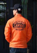 <img class='new_mark_img1' src='https://img.shop-pro.jp/img/new/icons1.gif' style='border:none;display:inline;margin:0px;padding:0px;width:auto;' />CANVAS - STANDARD LOGO COACH JACKET(Cardinal Body)(ORANGE)