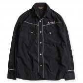 <img class='new_mark_img1' src='https://img.shop-pro.jp/img/new/icons50.gif' style='border:none;display:inline;margin:0px;padding:0px;width:auto;' />WEST RIDE / LEONARD WESTERN SHIRTS (BLK/WHT)