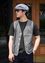 <img class='new_mark_img1' src='https://img.shop-pro.jp/img/new/icons1.gif' style='border:none;display:inline;margin:0px;padding:0px;width:auto;' />TROPHY CLOTHING - SUMMER WORK VEST (BLACK)