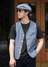 <img class='new_mark_img1' src='https://img.shop-pro.jp/img/new/icons1.gif' style='border:none;display:inline;margin:0px;padding:0px;width:auto;' />TROPHY CLOTHING - SUMMER WORK VEST (INDIGO)