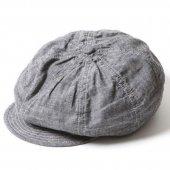 TROPHY CLOTHING -SUMMER NEWSBOY CAP (BLACK)