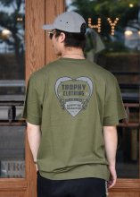 TROPHY CLOTHING - HEART PKT TEE (GREEN)