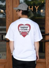 TROPHY CLOTHING - HEART PKT TEE (WHITE)
