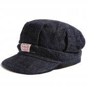 TROPHY CLOTHING - DIRT DENIM RAIL ROADER CAP (INDIGOxNAVY)