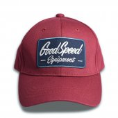 <img class='new_mark_img1' src='https://img.shop-pro.jp/img/new/icons1.gif' style='border:none;display:inline;margin:0px;padding:0px;width:auto;' />GOODSPEED equipment - GSE Logo Patch Cotton Cap (MAROON)