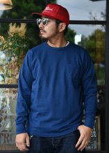 <img class='new_mark_img1' src='https://img.shop-pro.jp/img/new/icons1.gif' style='border:none;display:inline;margin:0px;padding:0px;width:auto;' />TROPHY CLOTHING - OD POCKET L/S TEE (INDIGO)