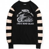 <img class='new_mark_img1' src='https://img.shop-pro.jp/img/new/icons1.gif' style='border:none;display:inline;margin:0px;padding:0px;width:auto;' />WEST RIDE / HEAVY BORDER SLEEVE LONG TEE  (BLK/CRM)