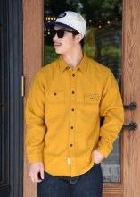 <img class='new_mark_img1' src='https://img.shop-pro.jp/img/new/icons1.gif' style='border:none;display:inline;margin:0px;padding:0px;width:auto;' />TROPHY CLOTHING - MACHINE AGE FLANNEL SHIRT (MUSTARD)