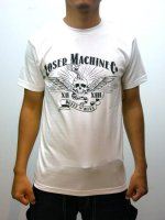 <img class='new_mark_img1' src='//img.shop-pro.jp/img/new/icons25.gif' style='border:none;display:inline;margin:0px;padding:0px;width:auto;' />LOSER MACHINE-BUILT TO KILL BASIC TEE(WHITE)