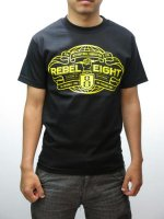 REBEL8 - INTERNATIONAL DOMINATION TEE ( BLACK )