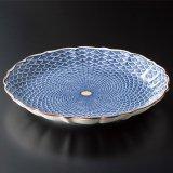 八寸皿  青海波紋