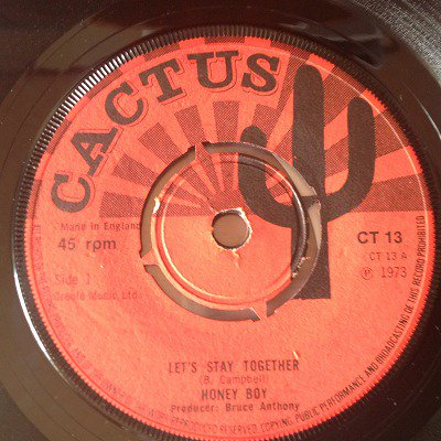 Honey boy / Let's stay together (7inch UK cactus 4star org)