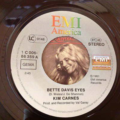 Kim carnes / Bette davis eyes (7inch german org)