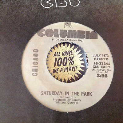 CHICAGO / SATURDAY IN THE PARK (7inch us org