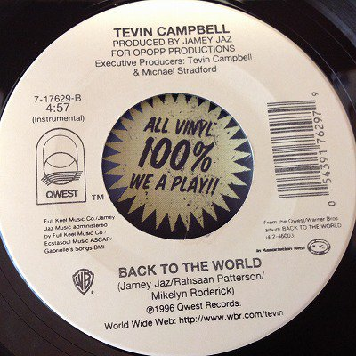 Tevin Campbell / Back to the world  (7inch us promo)