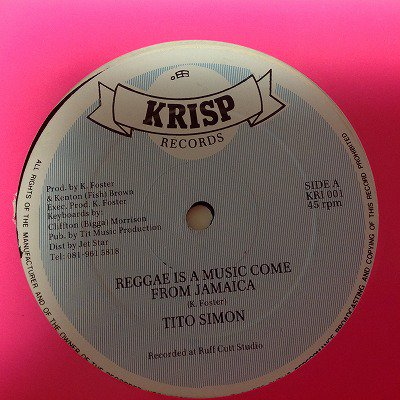 Tito simon / Reggae is a music come from Jamaica  (12inch uk org)