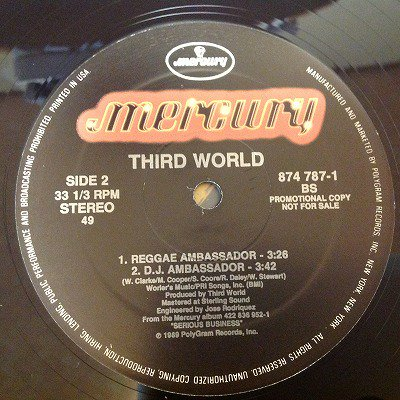 Third World / Reggae ambassador (12inch uk org)
